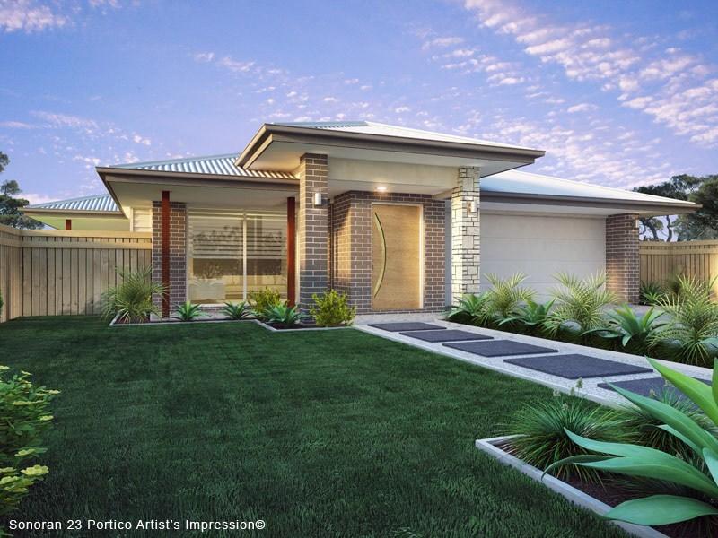 Sonoran 23 Hip Portico Design Floor Plan House Design